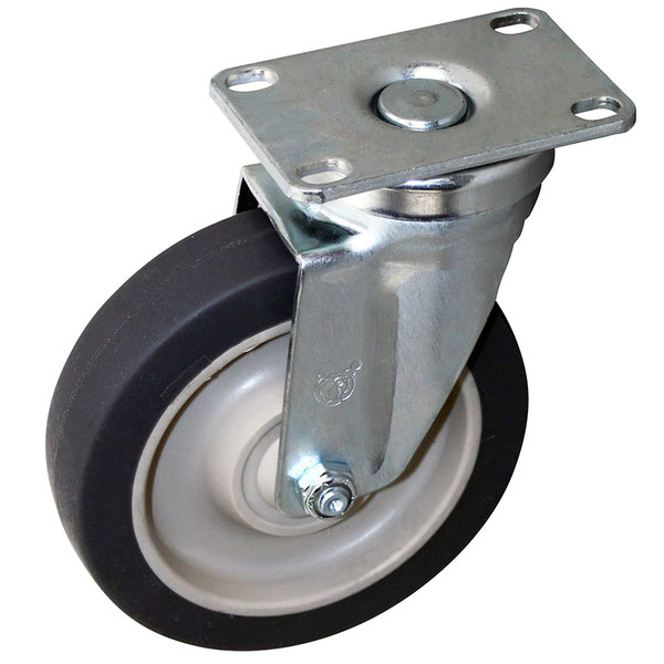 "All Points 26-2374 5"" Swivel Plate Caster - 300 lb. Capacity"