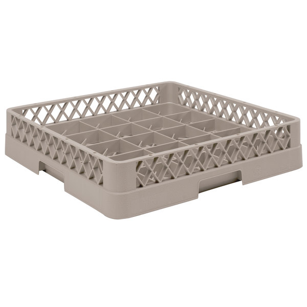 """Vollrath TR16BB Traex® Full-Size Beige 25-Compartment 6 3/8"""" Cup Rack"""