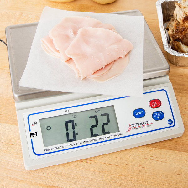 Cardinal Detecto PS-7 7 lb. Electronic Portion Scale Main Image 7
