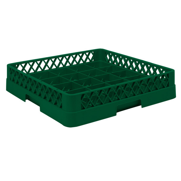 """Vollrath TR16BBBB Traex® Full-Size Green 25-Compartment 9 7/16"""" Cup Rack"""