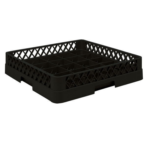 "Vollrath TR16BBB Traex® Full-Size Black 25-Compartment 7 7/8"" Cup Rack Main Image 1"