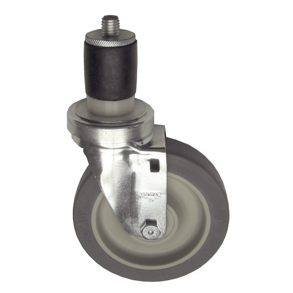 "Component Hardware CMS4-5BPN Equivalent 5"" Swivel Stem Caster for 1 5/8"" O.D. Tubing - 300 lb. Capacity Main Image 1"