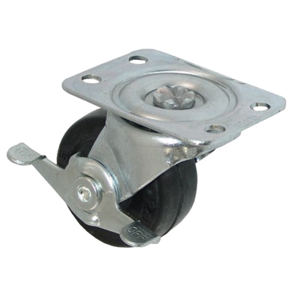 "All Points 26-2380 2"" Swivel Plate Caster with Brake - 100 lb. Capacity"