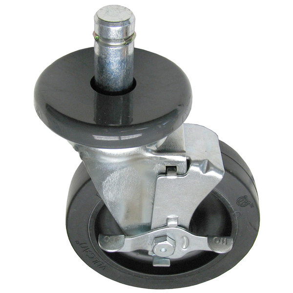 """All Points 26-2923 5"""" Swivel Stem Caster with Brake for 1"""" O.D. Tubing - 260 lb. Capacity"""