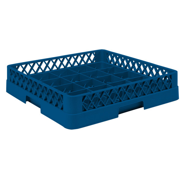 "Vollrath TR16BB Traex® Full-Size Royal Blue 25-Compartment 6 3/8"" Cup Rack"
