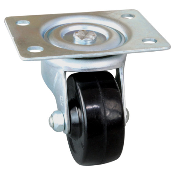 """All Points 26-3336 2 1/2"""" Swivel Plate Caster - 200 lb. Capacity Main Image 1"""