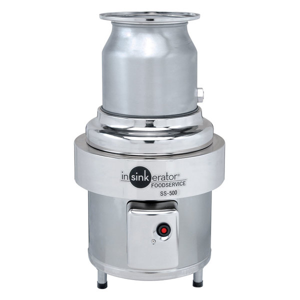 InSinkErator SS-500-28 Commercial Garbage Disposer - 5 hp, 208-230/460V, 3 Phase