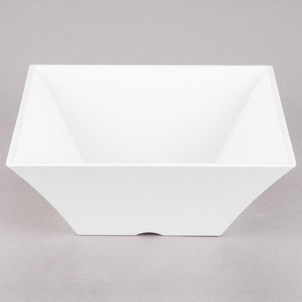 tablecraft mb125 frostone 68 qt white square melamine bowl
