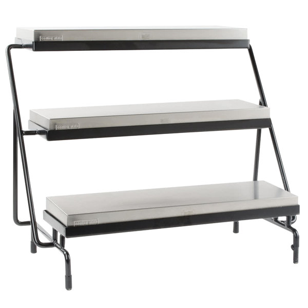 Tablecraft CaterWare CW40309C Three-Tiered Display Stand with Half Long Size Cooling Plates 24 3/4\  ...  sc 1 st  WebstaurantStore & Tablecraft CaterWare CW40309C Three-Tiered Display Stand with Half ...