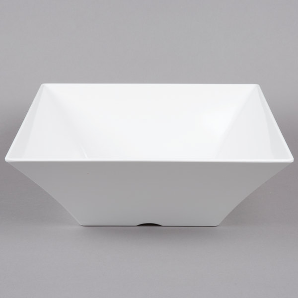 TABLECRAFT PRODUCTS COMPANY Melamine Bowl,Square,10 In,120 oz. MB94 White