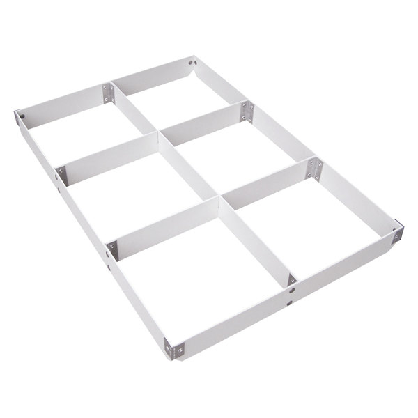"MFG Tray 176217-1537 6-Section Full Size Fiberglass Pan Extender - 2"" High"