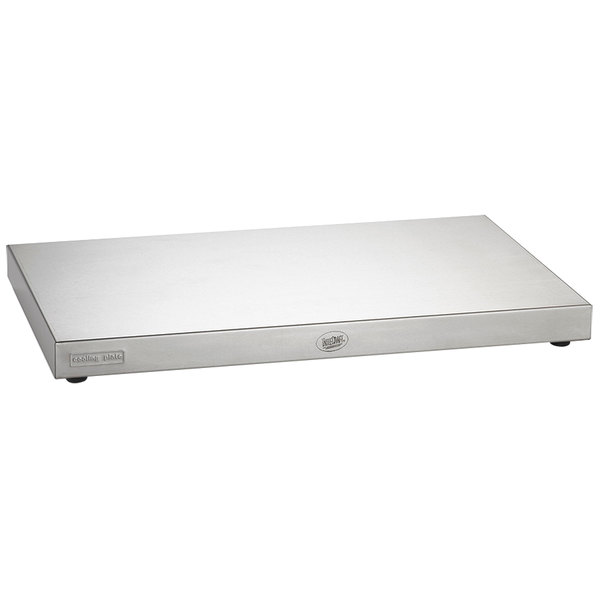 "Tablecraft CaterWare CW60100 Full Size Stainless Steel Cooling Plate 20 7/8"" x 12 3/4"" x 1 1/2"""