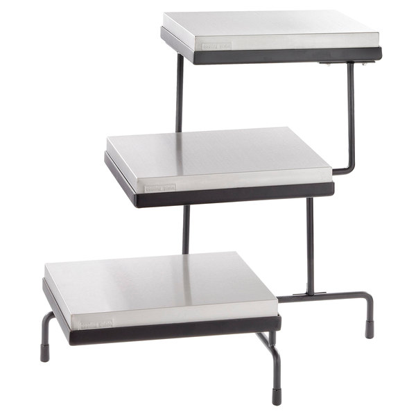 Tablecraft Caterware Cw40309b Three Tiered Display Stand With Half Size Cooling Plates 21 X 17
