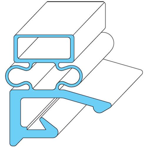 """Hobart 268821-2 Equivalent Rubber Magnetic Door Gasket - 24 3/8"""" x 29 11/16"""" Main Image 1"""
