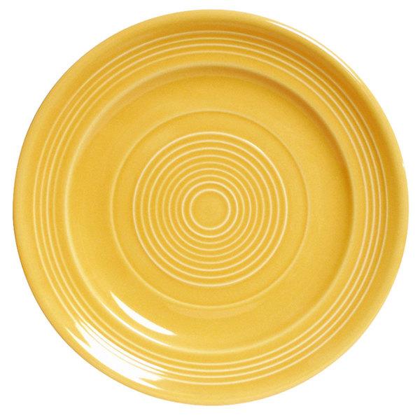 "Tuxton CSA-104 Concentrix 10 1/2"" Saffron China Plate - 12/Case"