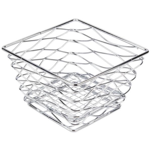 Chrome American Metalcraft BNRB68C Square Birdsnest Wire Basket
