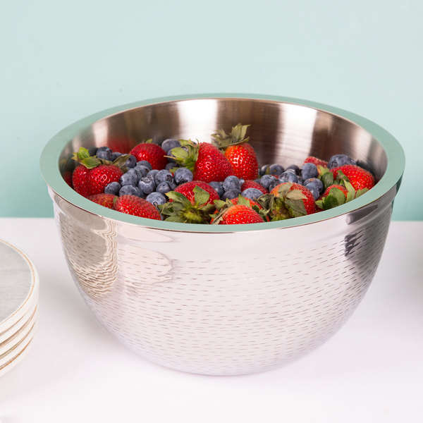 """Tablecraft RB11 Remington 5 Qt. Round Stainless Steel Double Wall Bowl - 11 1/4"""" x 6 1/2"""""""