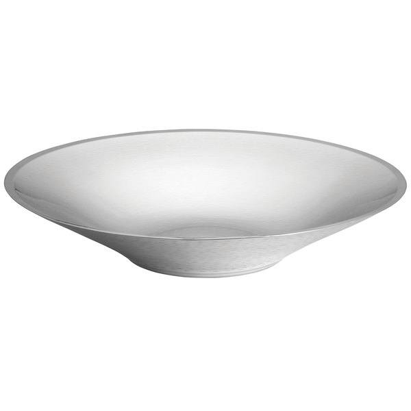 """Tablecraft RB184 Remington Collection 5 Qt. Round Double Wall Stainless Steel Bowl - 17 3/4"""" x 3 1/2"""""""