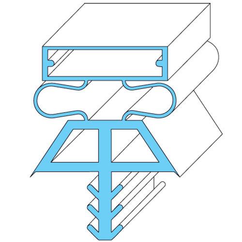"""Vollrath 22525-1075 Equivalent Magnetic Door Gasket - 78"""" x 36 1/4"""" Main Image 1"""