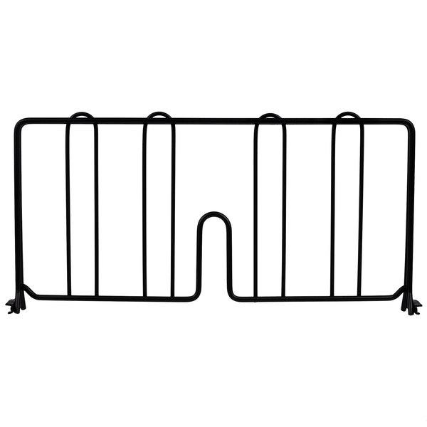 """Metro DD18-DBM 18"""" Black Matte Wire Shelf Divider"""