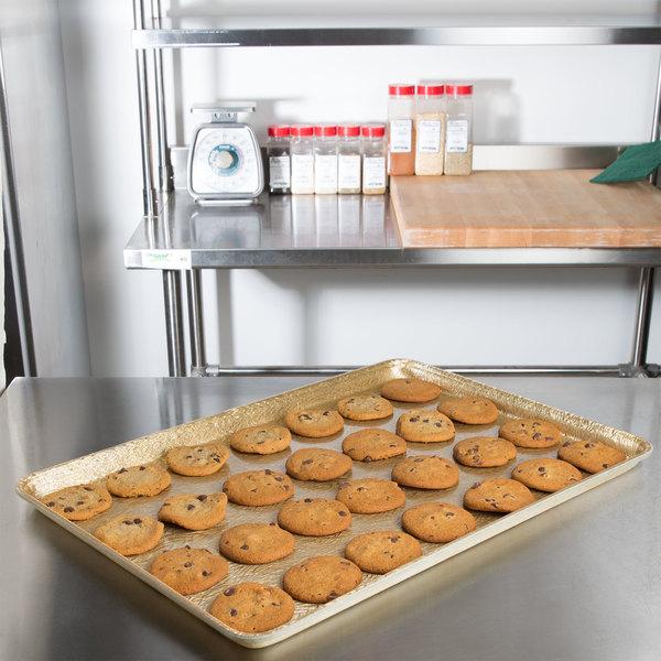 "MFG Tray 332002 1053 18"" x 26"" Goldtex Fiberglass Supreme Bakery Display Tray"