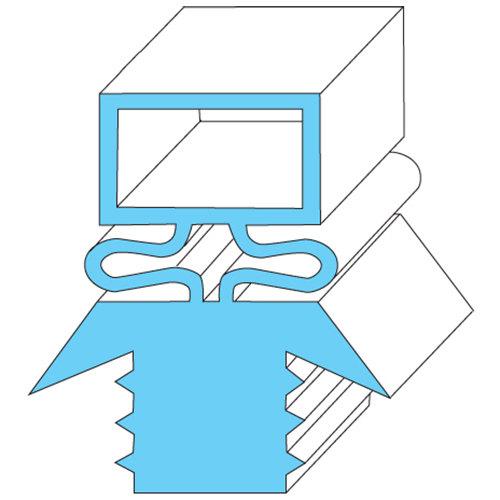 """Traulsen 341-27566-03 Equivalent Rubber Magnetic Door Gasket - 23 1/2"""" x 59 3/4"""" Main Image 1"""
