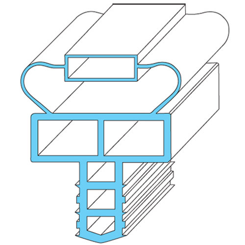 """Randell IN-GSK1047 Equivalent Magnetic Drawer Gasket - 24 1/2"""" x 9 3/4"""""""