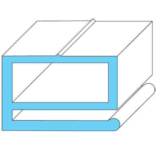 "Silver King 10310-08 Equivalent Compression Door Gasket - 24 3/4"" x 26 1/4"" Main Image 1"