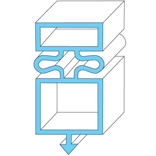 "All Points 74-1155 Magnetic Door Gasket - 21 1/2"" x 31 1/4"" Main Image 1"