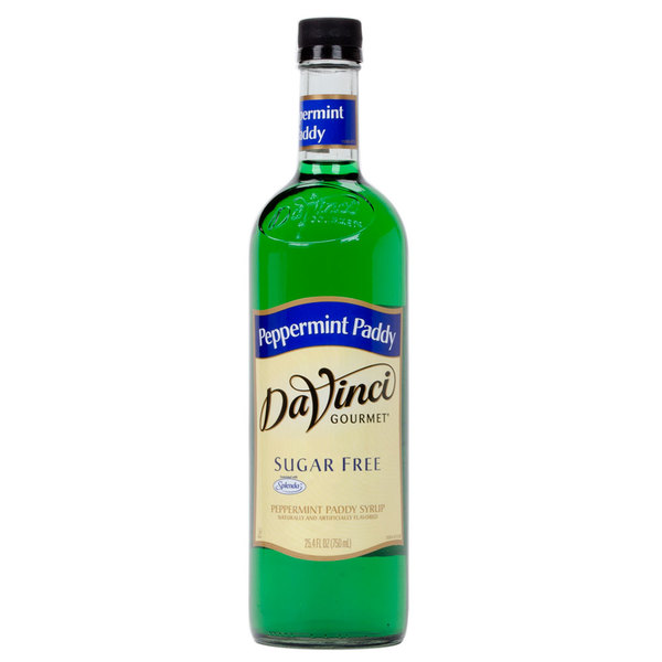 DaVinci Gourmet 750 mL Sugar Free Peppermint Paddy Flavoring Syrup