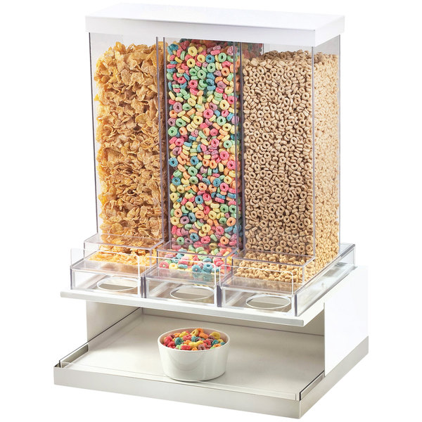 Cal-Mil 3019-55 Luxe 3 Bin Stainless Steel Cereal Dispenser Main Image 11