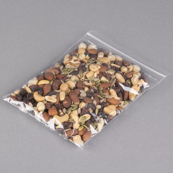 "Plastic Food Bag 6"" x 8"" Seal Top with Hang Hole - 1000/Box"