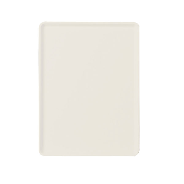 """Cambro 1220D538 12"""" x 20"""" Cottage White Dietary Tray - 12/Case"""