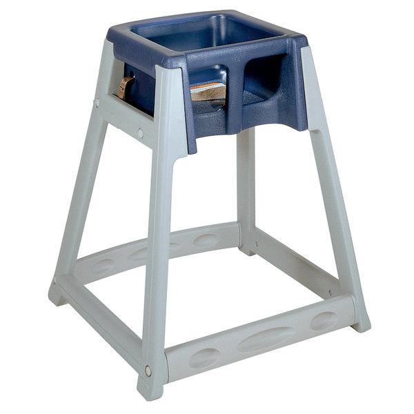 Koala Kare KB877-04 KidSitter Grey Assembled Convertible Plastic High Chair with Blue Seat