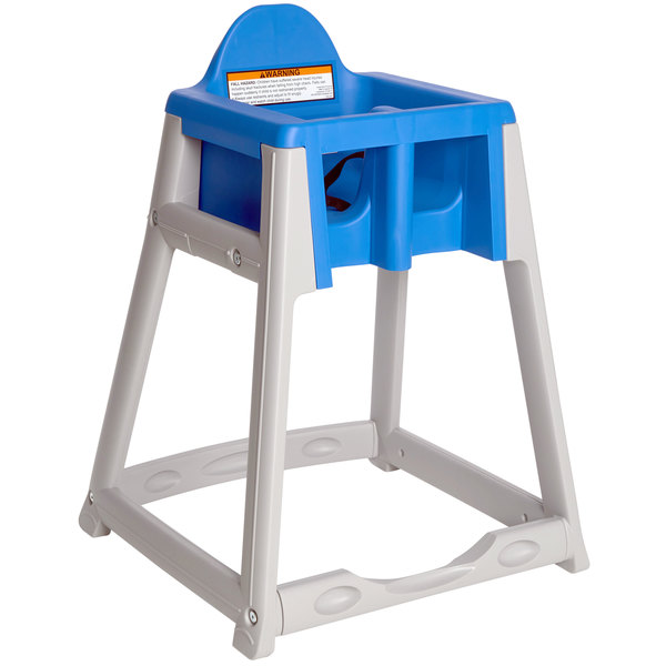 Koala Kare KB977-04 KidSitter Grey Assembled Convertible Plastic High Chair with Blue Seat