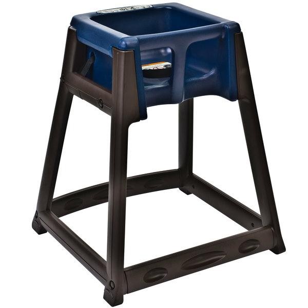 Koala Kare KB866-04 KidSitter Brown Assembled Convertible Plastic High Chair with Blue Seat