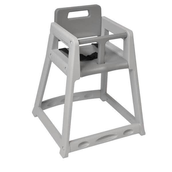 Koala Kare KB850-01 Gray Assembled Stackable Plastic High Chair