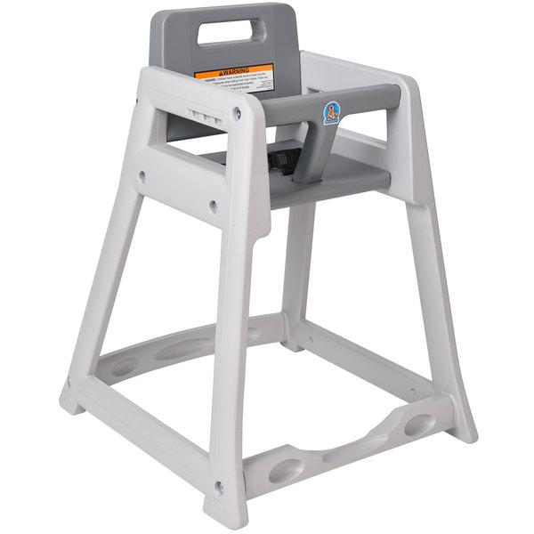 Koala Kare KB950-01 Gray Assembled Stackable Plastic High Chair Main Image 1
