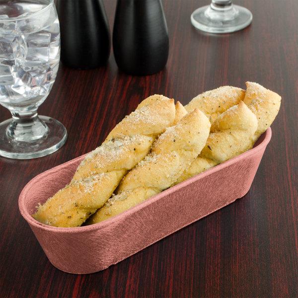 HS Inc. HS1010 Paprika Cracker / Breadstick Basket - 24/Case