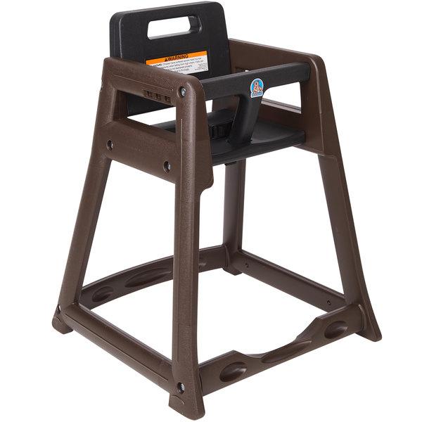 Koala Kare KB950-09 Brown Assembled Stackable Plastic High Chair