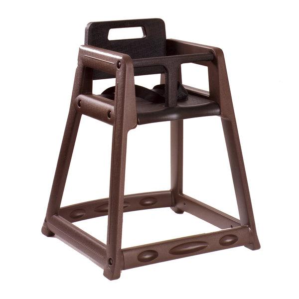 Koala Kare KB850-09 Brown Assembled Stackable Plastic High Chair