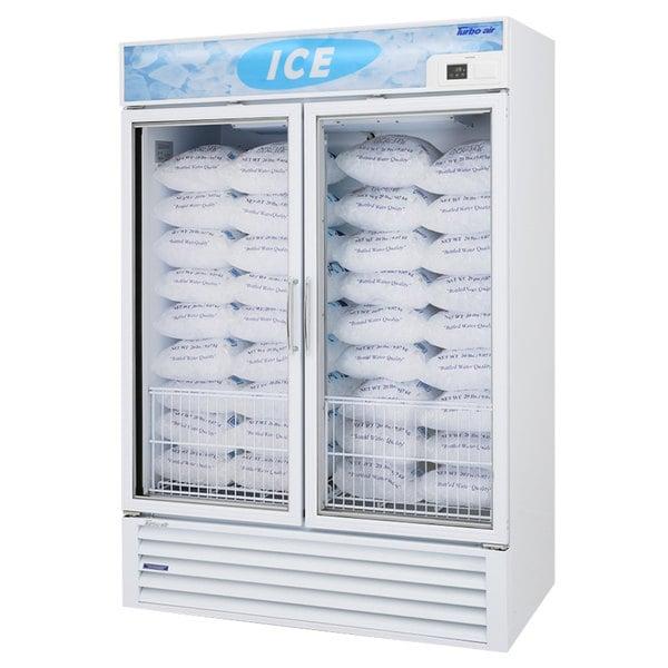 "Turbo Air TGIM-49W-N 55"" White Glass Door Ice Merchandiser"