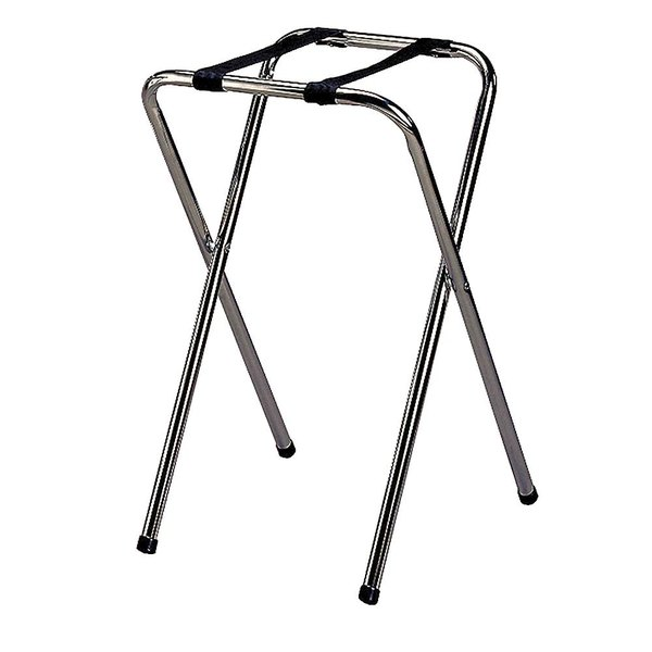 Tablecraft 23 Chrome-Plated Metal Tray Stand - 29 1/2""