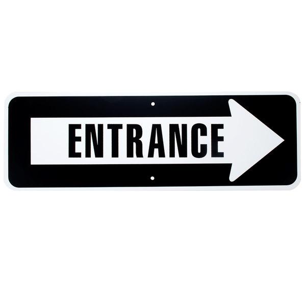 Exit Sign Set ComplianceSigns Aluminum Entrance White Reflective 18 x 12 in.