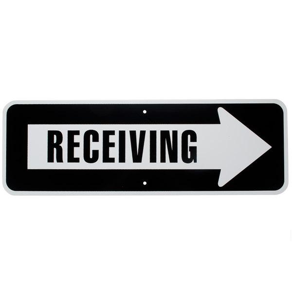 """Receiving"" Arrow Aluminum Composite Sign - 36"" x 12"" PA-05"