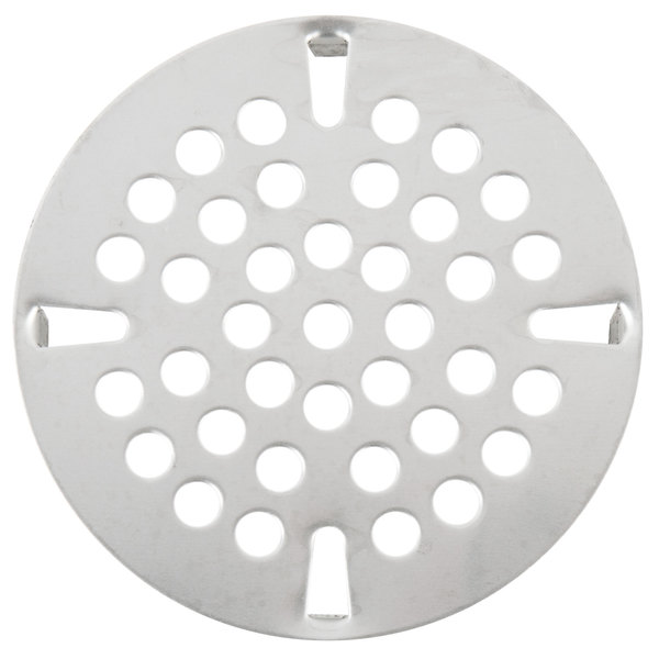 """T&S 010386-45 Equivalent 3 1/2"""" Flat Strainer Replacement for Waste Valves with 3 1/2"""" Sink Openings Main Image 1"""