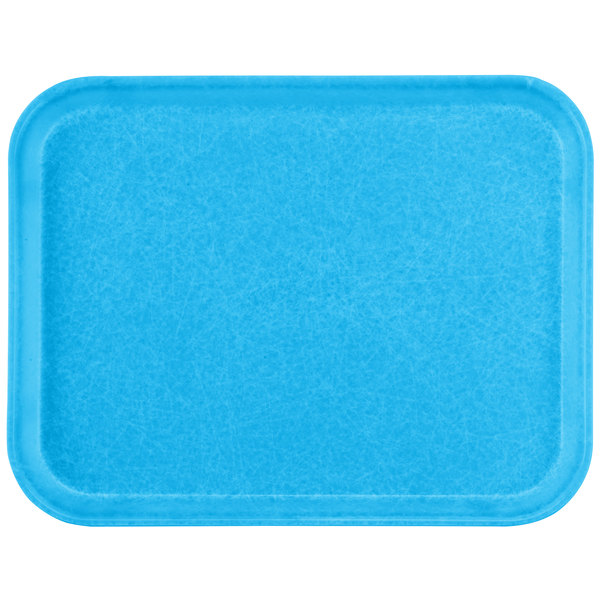 "Carlisle 1612FG97003 Customizable 12"" x 16"" Glasteel Pacific Blue Fiberglass Tray - 12/Case"