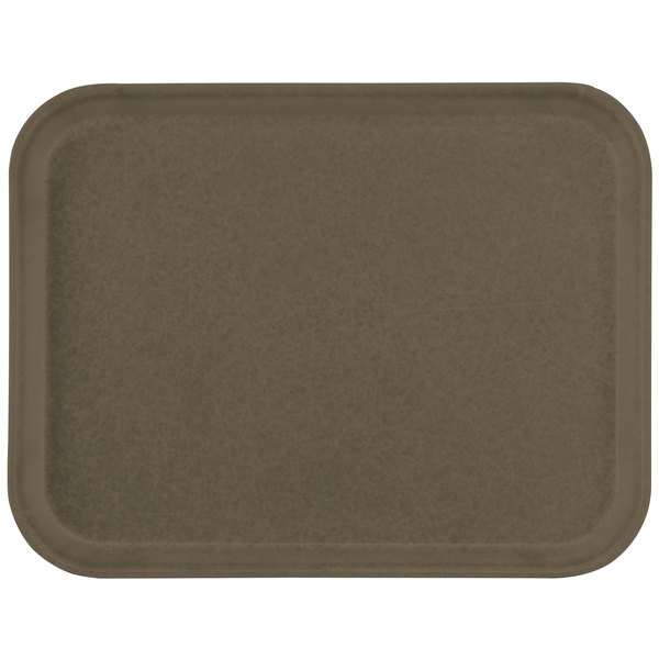 "Carlisle 1612FG076 Customizable 12"" x 16"" Glasteel Toffee Tan Fiberglass Tray - 12/Case"