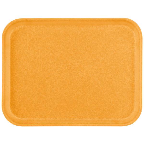 "Carlisle 1612FG019 Customizable 12"" x 16"" Glasteel Rust Fiberglass Tray - 12/Case"