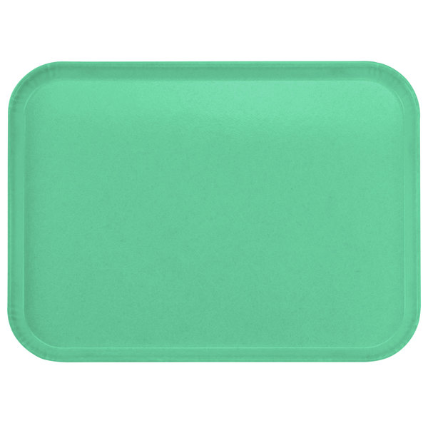 "Carlisle 2216FGQ007 Customizable 16"" x 22"" Glasteel Tropical Green Fiberglass Tray - 6/Case"